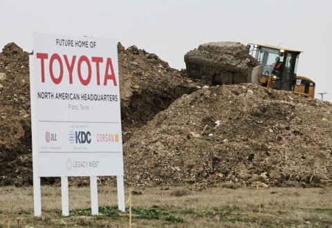 Toyota moving to Texas