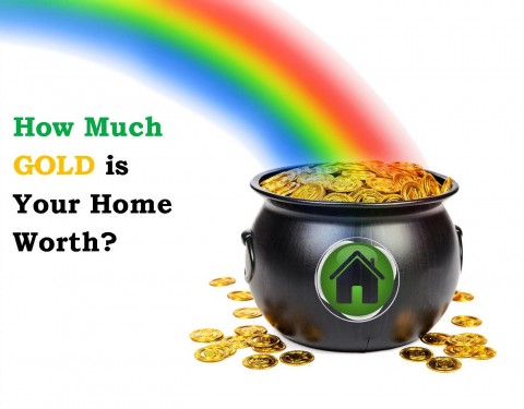 how much gold is your home worth